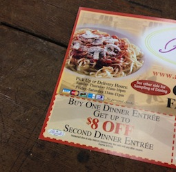 coupon, deals, promotion, restaurant, pizzeria
