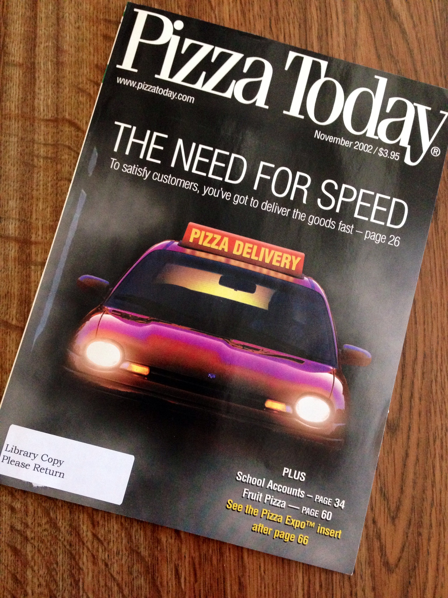 Throwback Thursday Delivery Speeds Up In November 2002