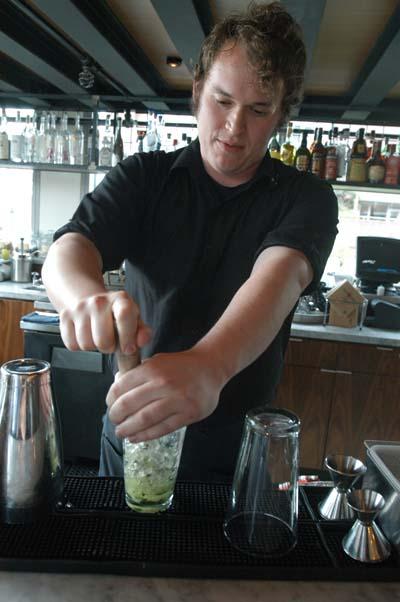 bartender making cocktail Tutta Bella