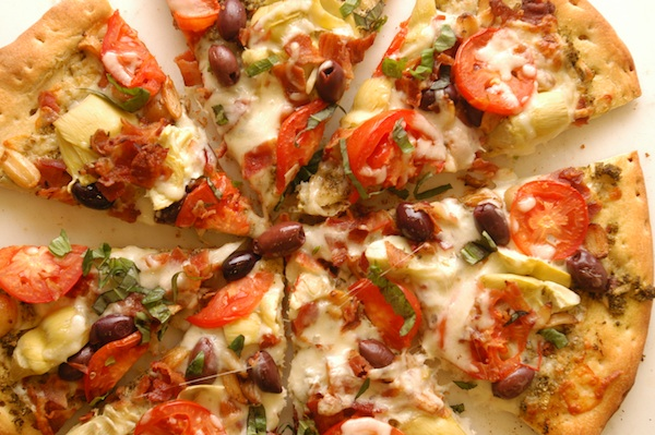 Artichoke and Smoked Bacon Pizza