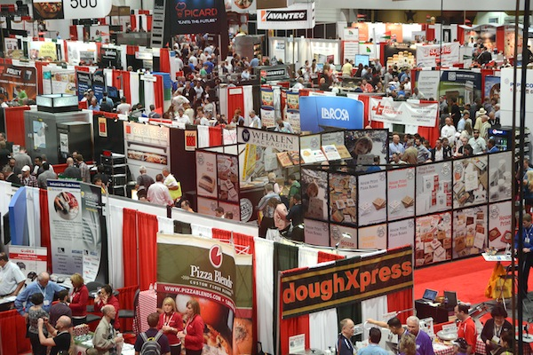 Pizza Expo, 2014, overhead, crowd, show floor