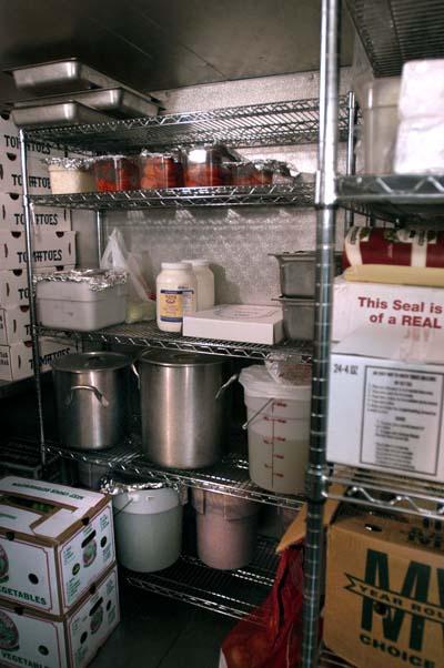 inside, walkin, cooler, refrigerator, refrigeration