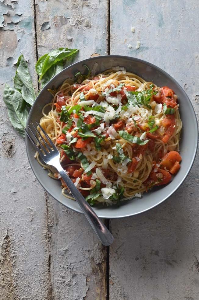 capellini pomodoro basil