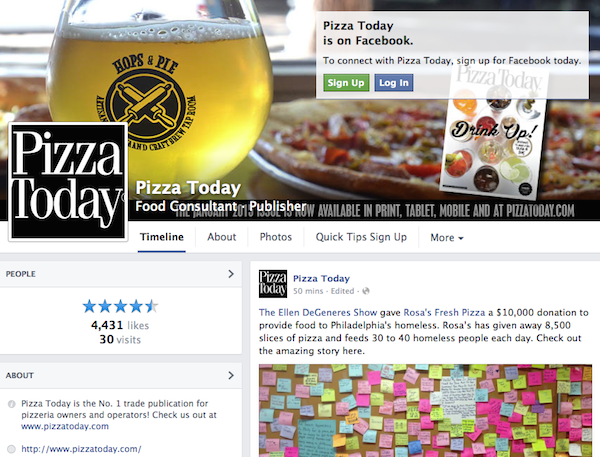 Pizza Today Facebook January 15