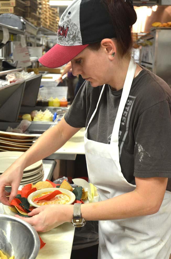 kitchen worker, battling burnout
