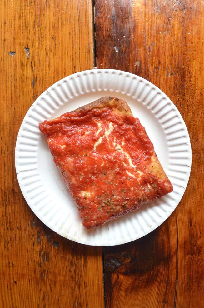 grandma, slice, pie, pizza, house of pizza and calzone, brooklyn, new york,