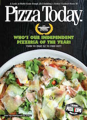 pizza today, august 2015, cover, independent pizzeria of the year
