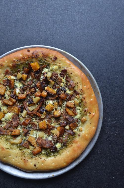 butternut squash pizza, fall pizza