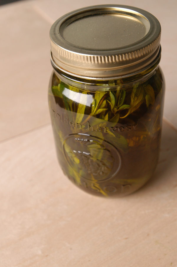herb infused, olive oil
