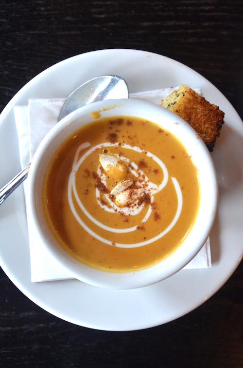 Chef Jeff's Curried Pumpkin Soup Jeffrey Freehof The Garlic Clove, Evans, GA