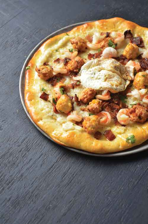 Carolina Shrimp and Grits Pizza