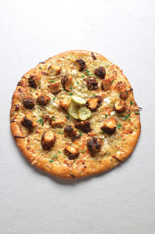Nashville Hot Chicken Pizza with creamy coleslaw
