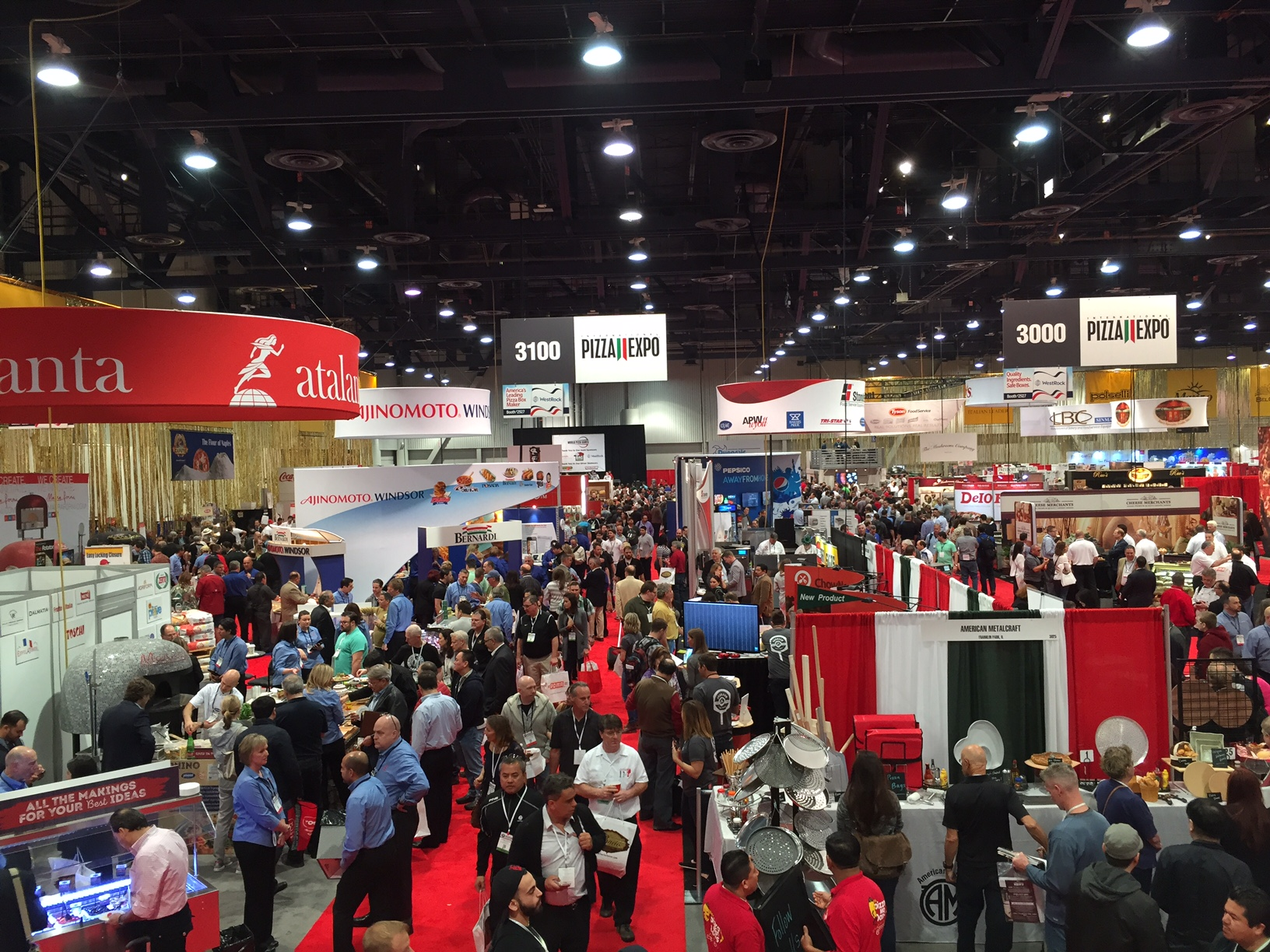 Pizza Expo Day One was a huge success with a packed show floor.