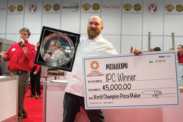 Nino Coniglio: 1st place Traditional Division and Pizza Maker of the Year
