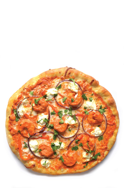 Curry Shrimp Pizza