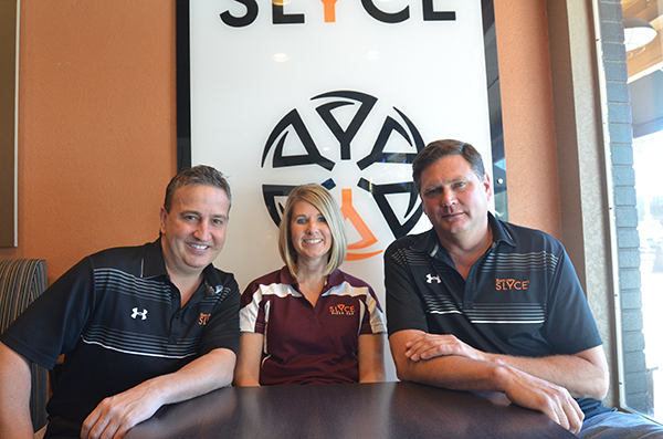 Owners Jack Bennett and Ken Gillespie with General Manager Suzanne Brown