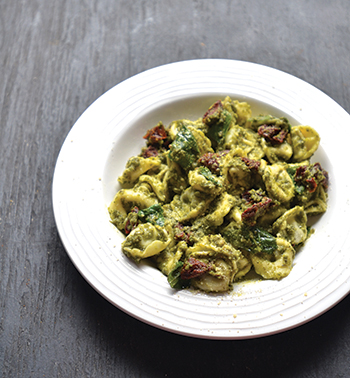 Tortellini Pesto with Sun-dried Tomatoes
