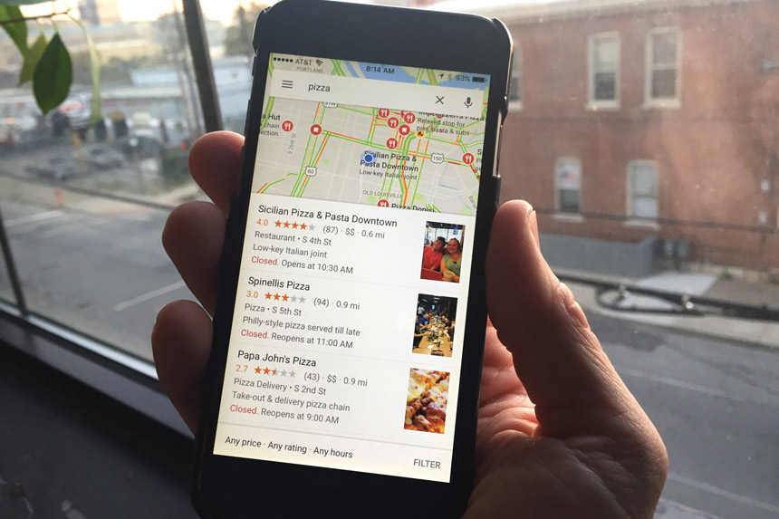google map pizzeria