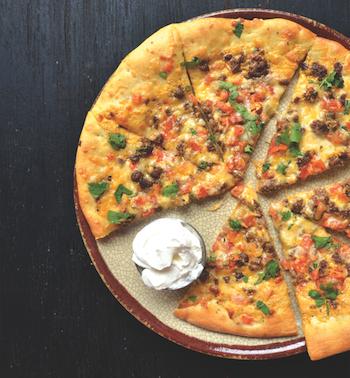 nacho cheese pizza