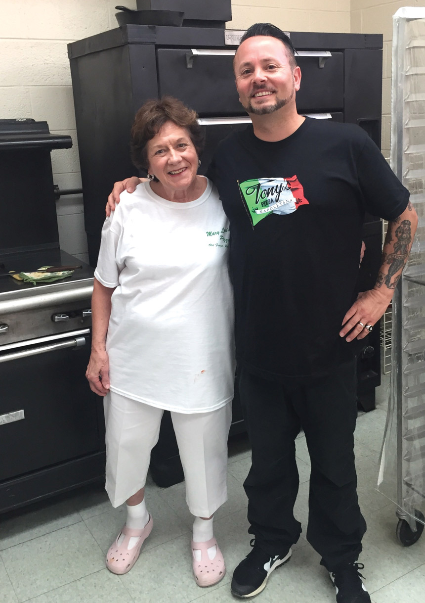 Tony Gemignani, Mary Lou, old forge, pizza style