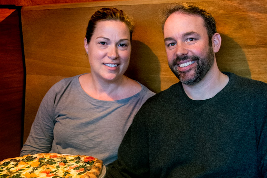 Anne and Kevin Plaut, owners, Harry's Bishops Corner, West Hartford, Connecticut